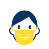 Person wearing a mask icon